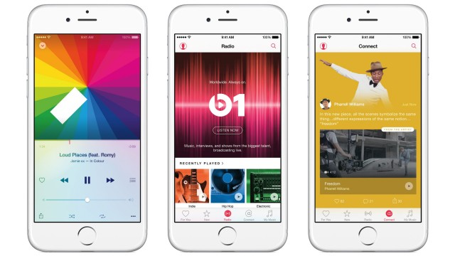 Times Square is the site for Beats 1's latest new ad
