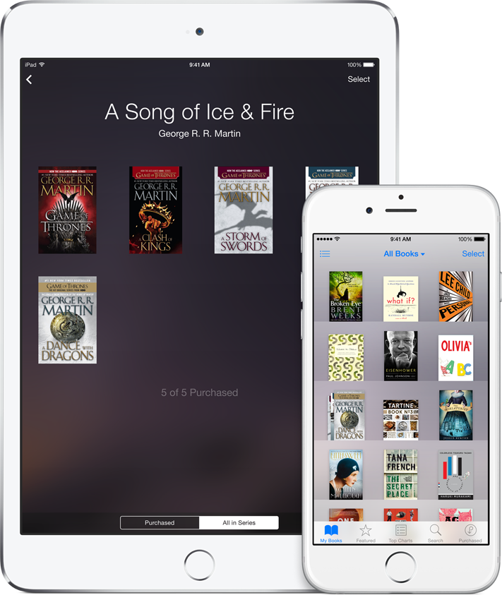 Find and preorder books by series in iBooks