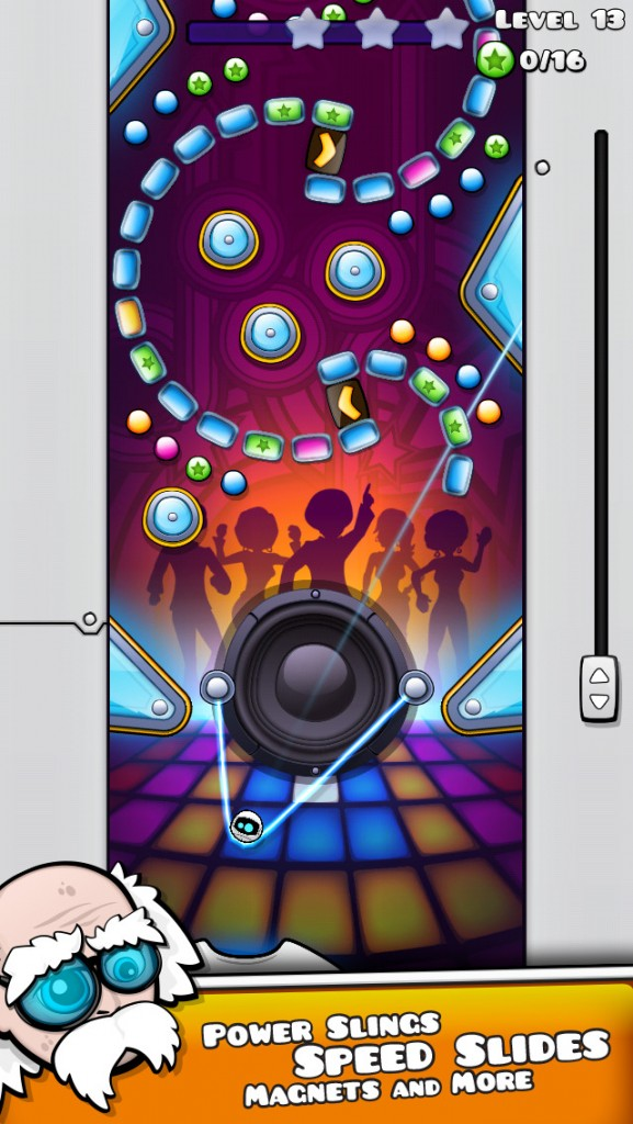 Get your funk on in Riff the Robot, a unique pachinko game