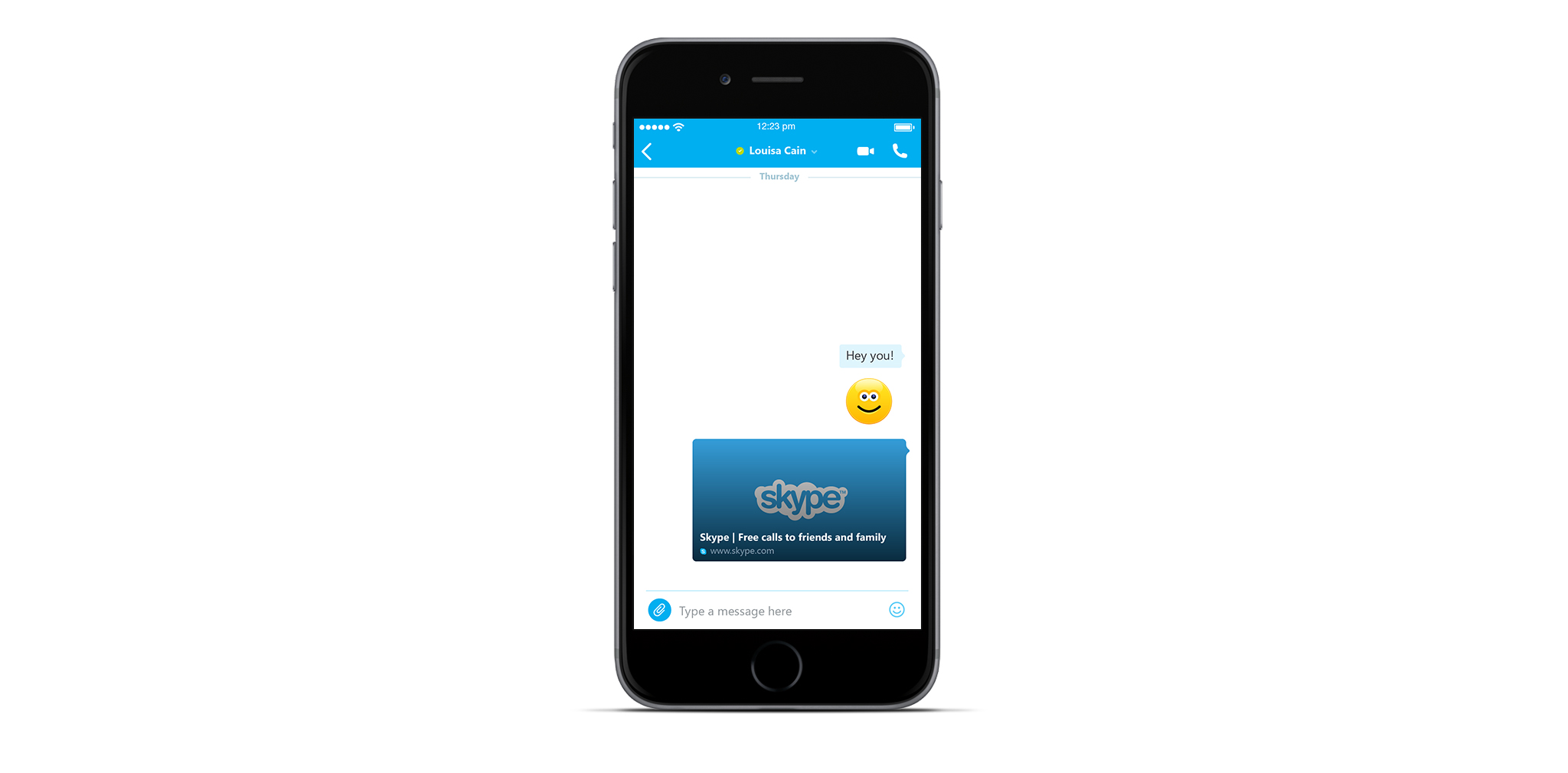 Skype for iPhone update allows users to preview Web links while chatting