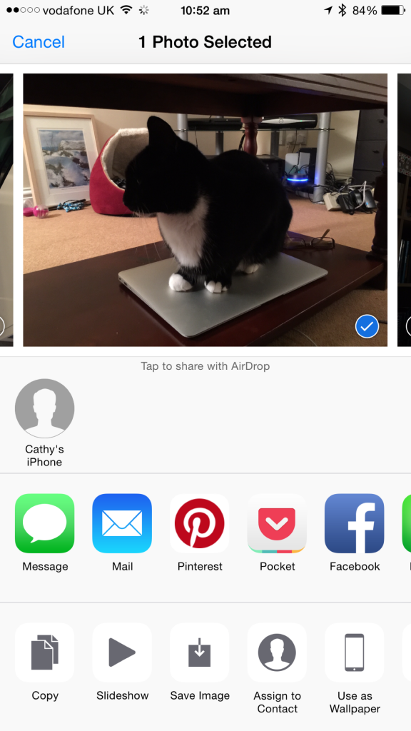 You can save images shared using iCloud Photo Library with the touch of a button.