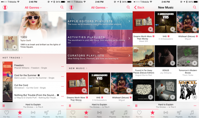 "Apple Music's ""New Music"" section is great for discovery"