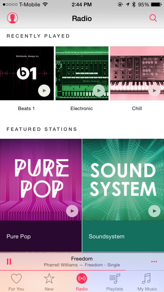 Apple Music's genre radio stations