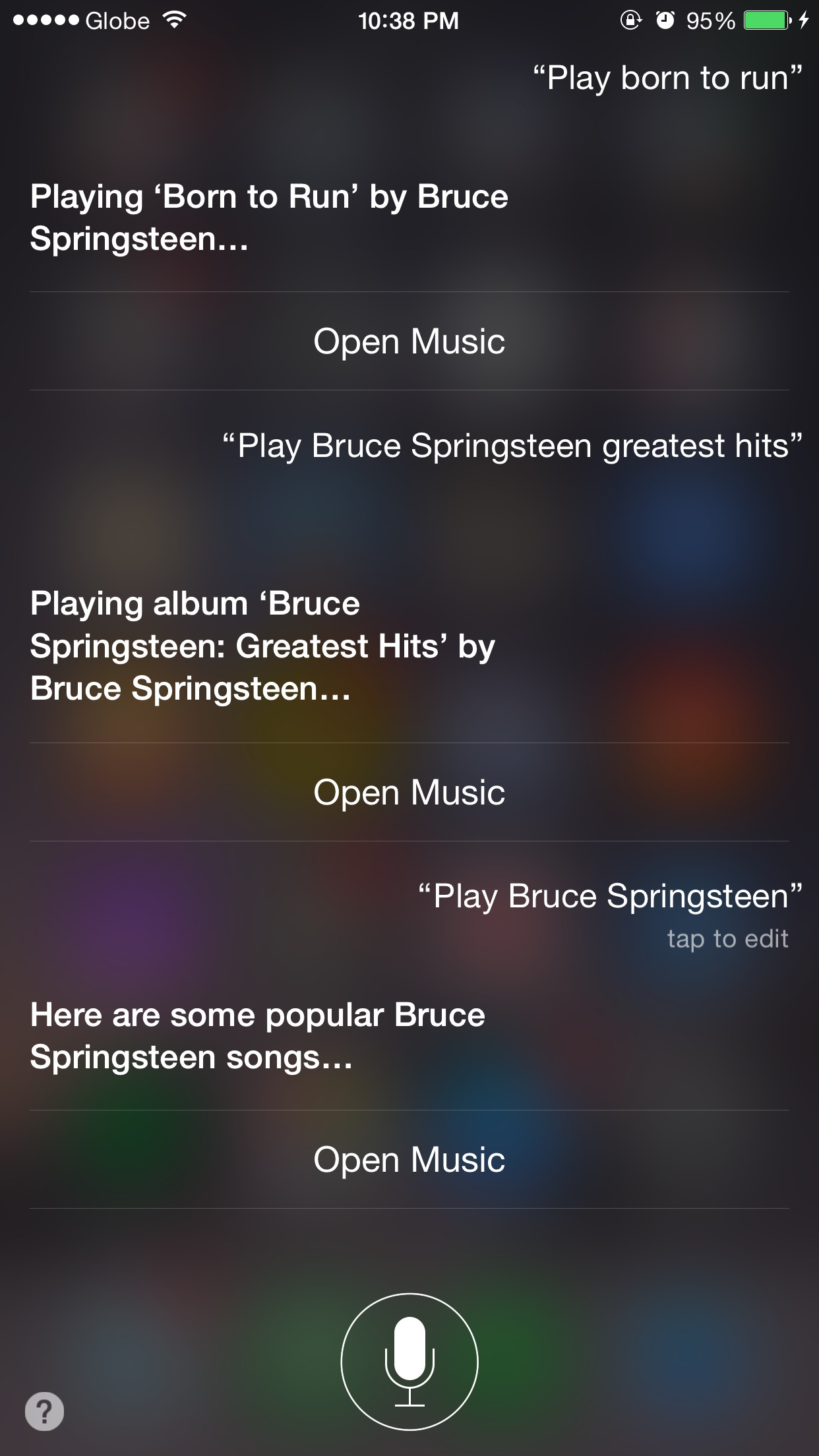 Siri, I want some Springsteen