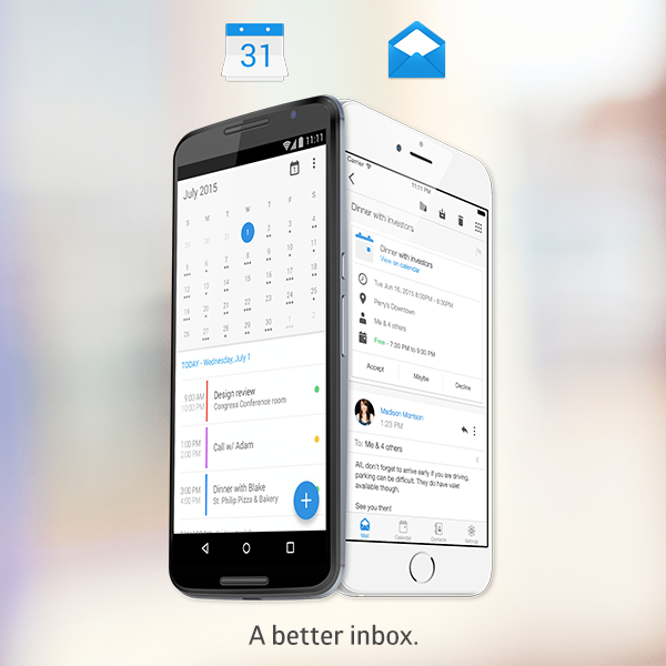 Manage emails, events and contacts with just one app, Boxer