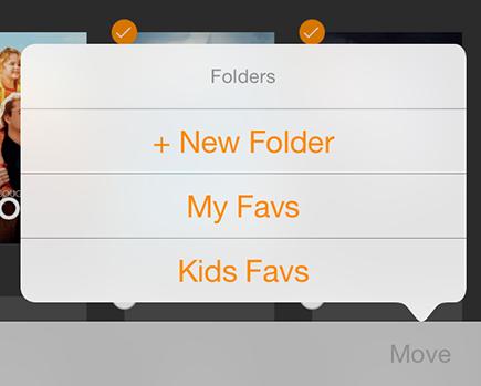 Infuse folders
