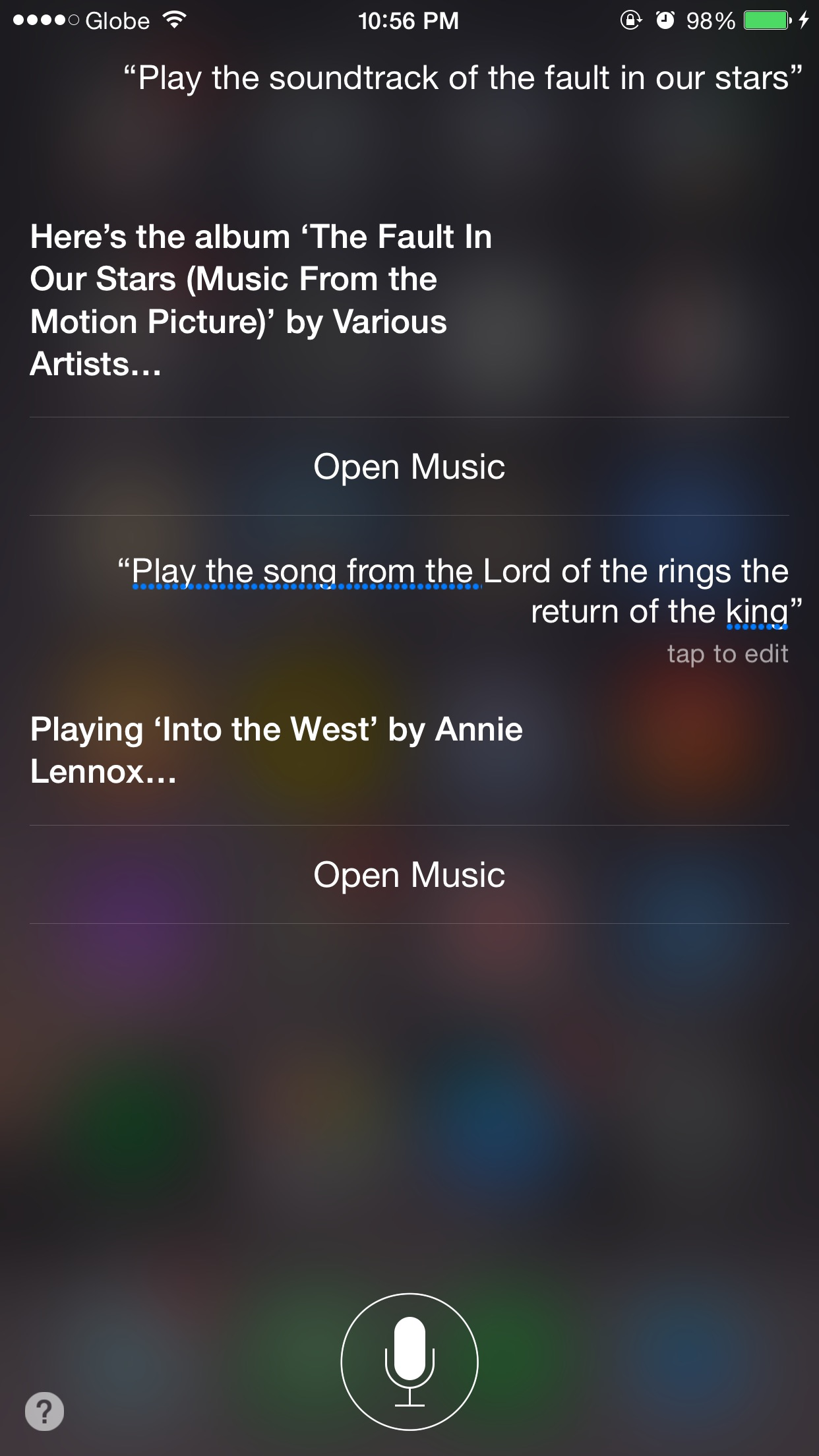 Siri, what's that song from that movie?