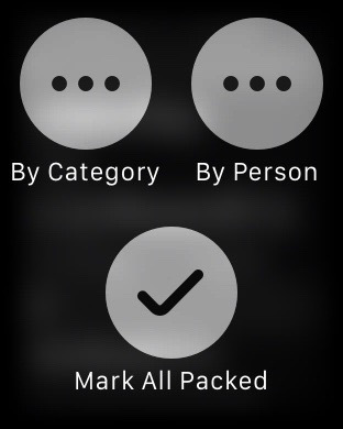 Pack on Apple Watch