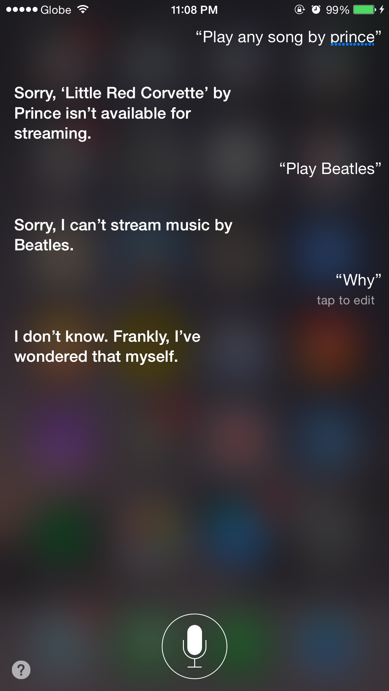Siri, have anything by Prince or the Beatles?