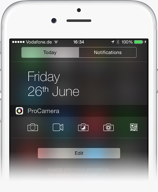 Notification Center widget