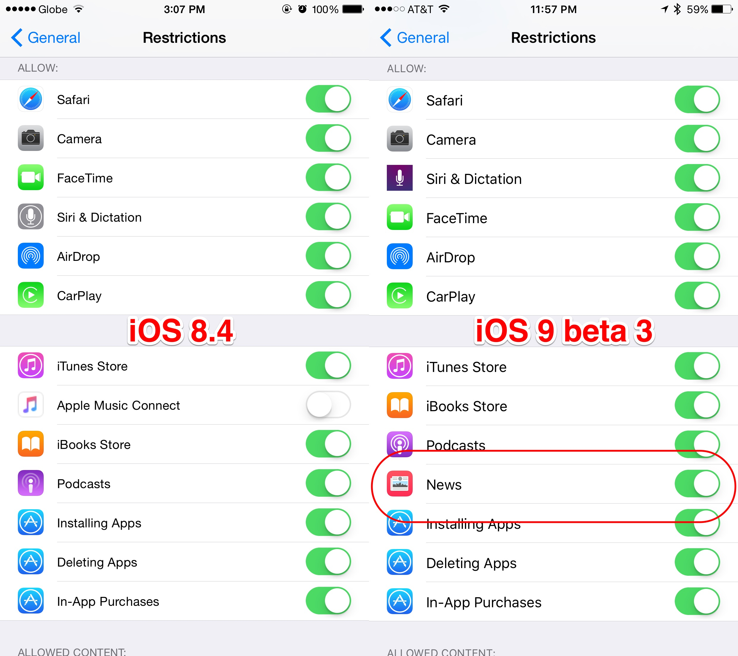 A new option for disabling News can be found in iOS 9 beta 3.