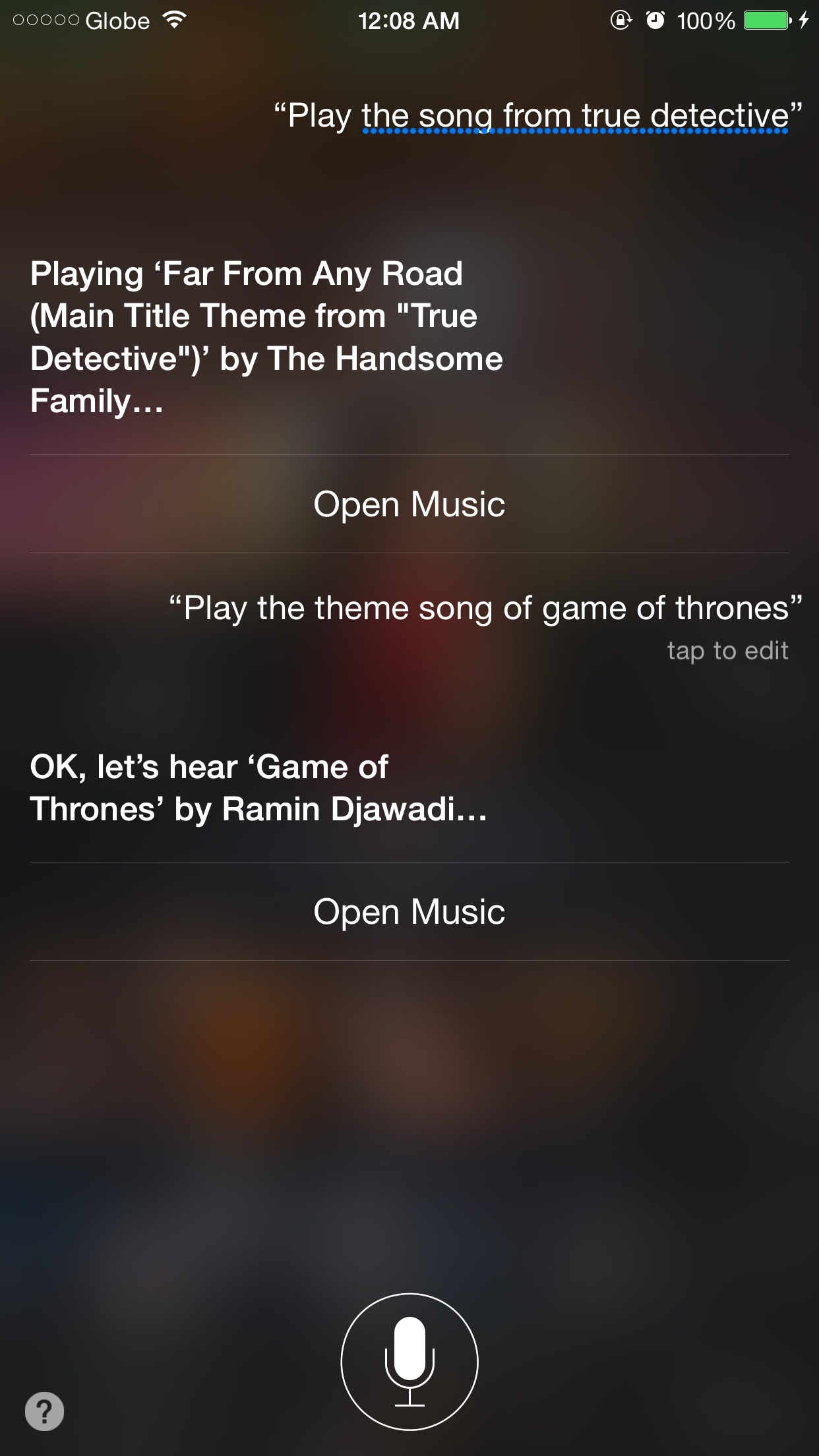 Siri, what's that song on TV?