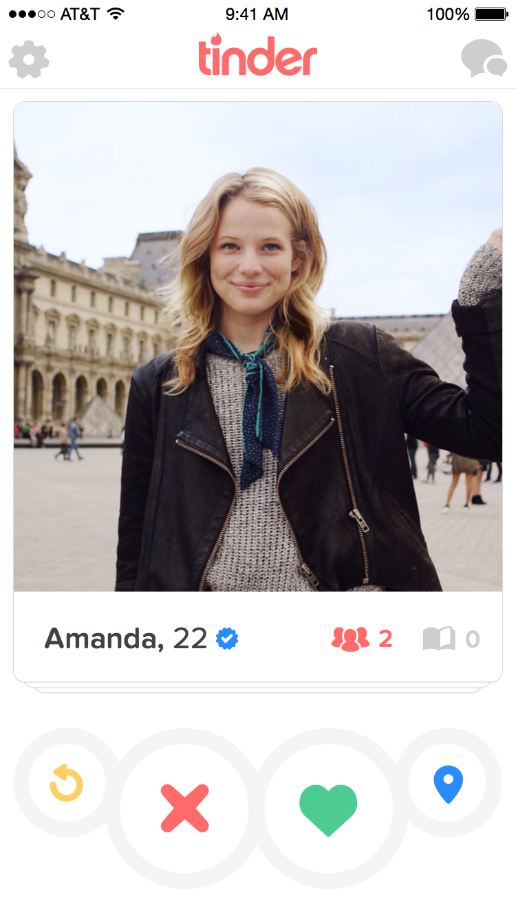 Look for the verified symbol on Tinder
