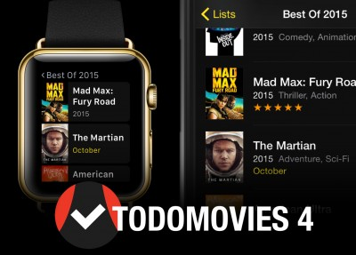 TodoMovies 4 brings Apple Watch app and more