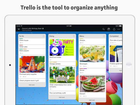 Trello iPad Organize