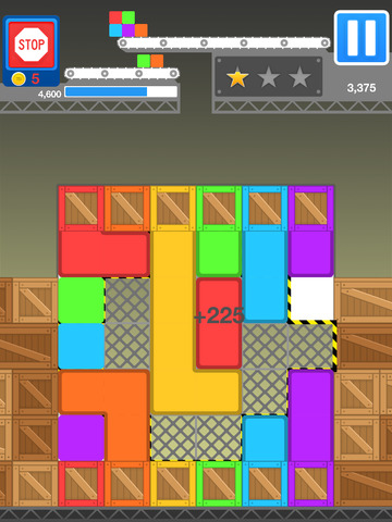 Tetris meets a sliding puzzle in Tricky Block