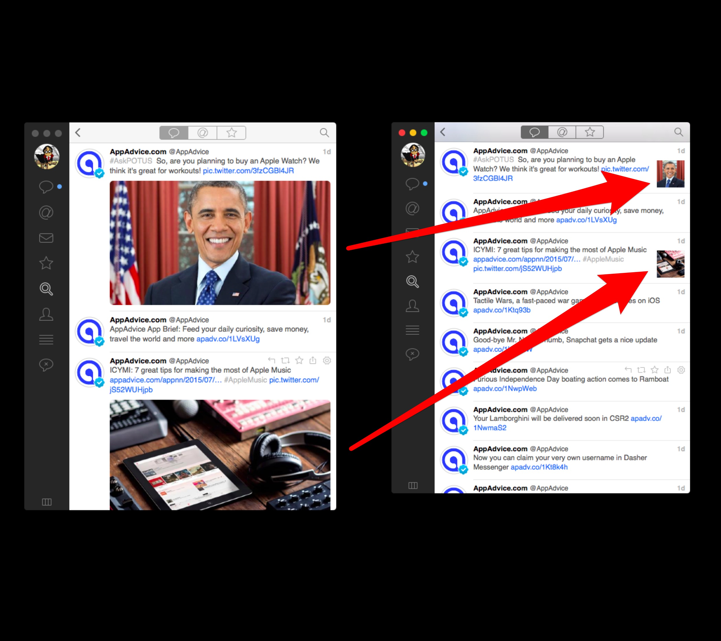 Image previews in Tweetbot for Mac