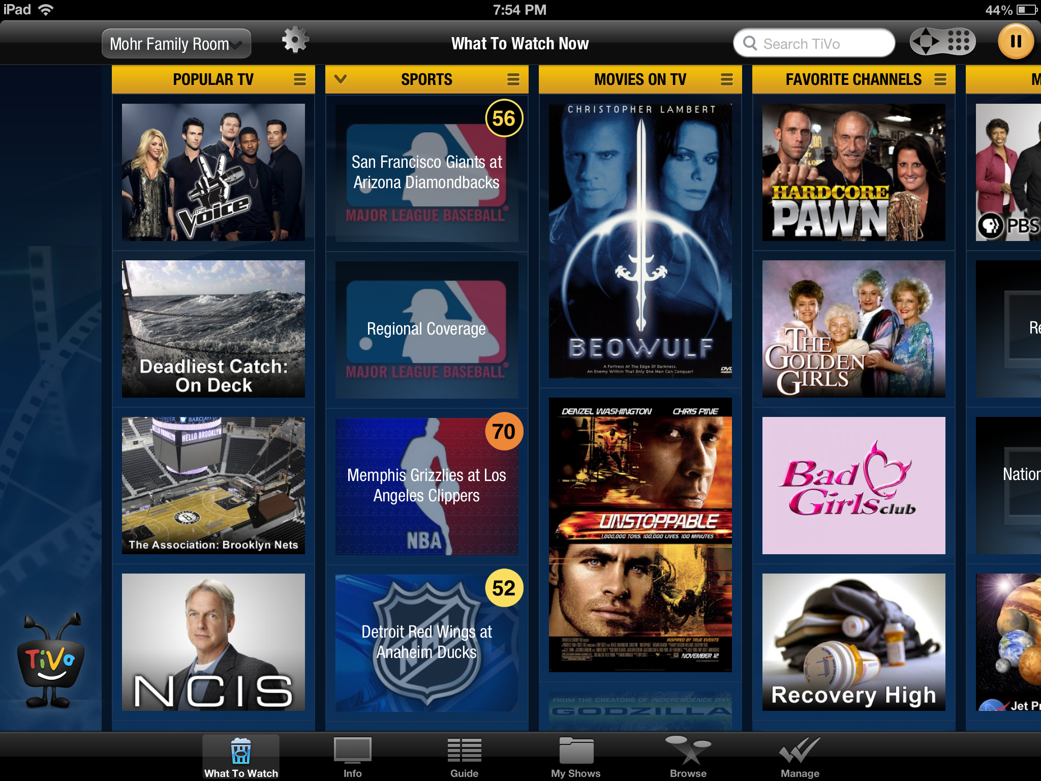TiVo's app for the iPhone and iPad can now stream to an Apple TV.