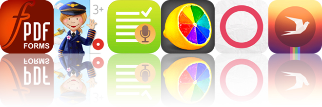 Today's apps gone free: PDF Forms, Tiny Airport, WatchNotes and more
