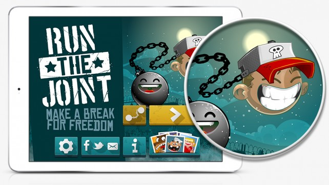 Jump to escape with your ball and chain in Run The Joint