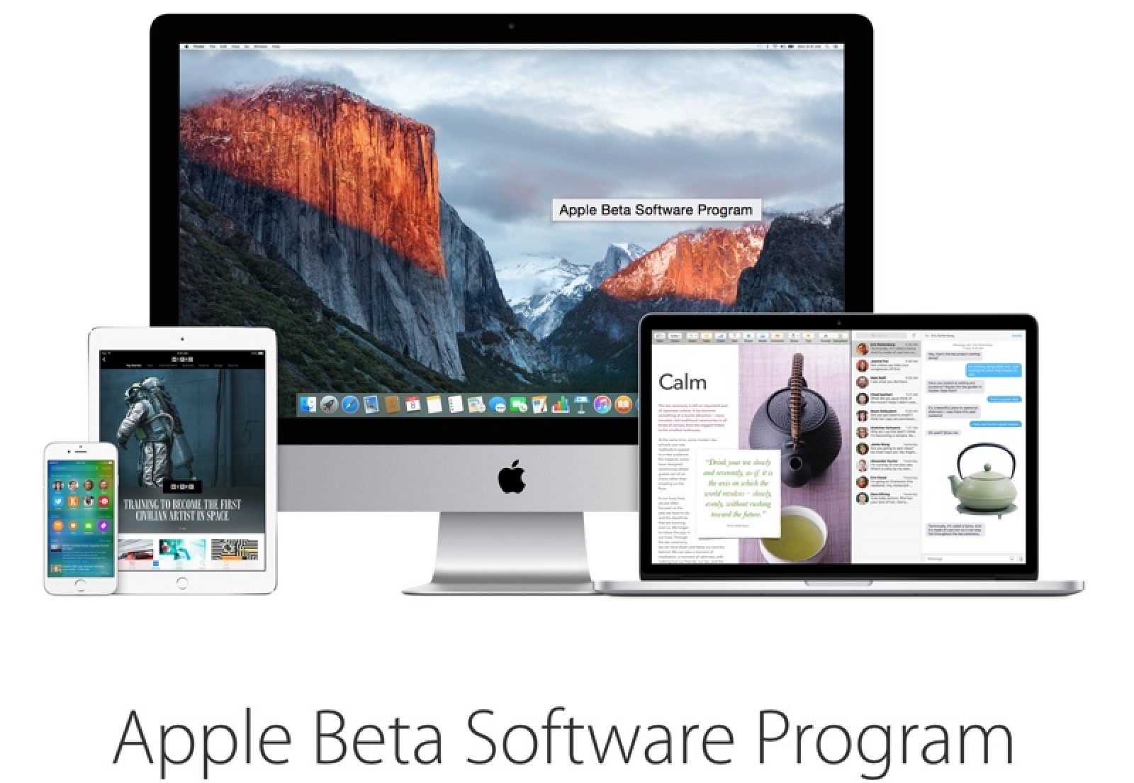 Apple releases public betas of iOS 9 and OS X El Capitan