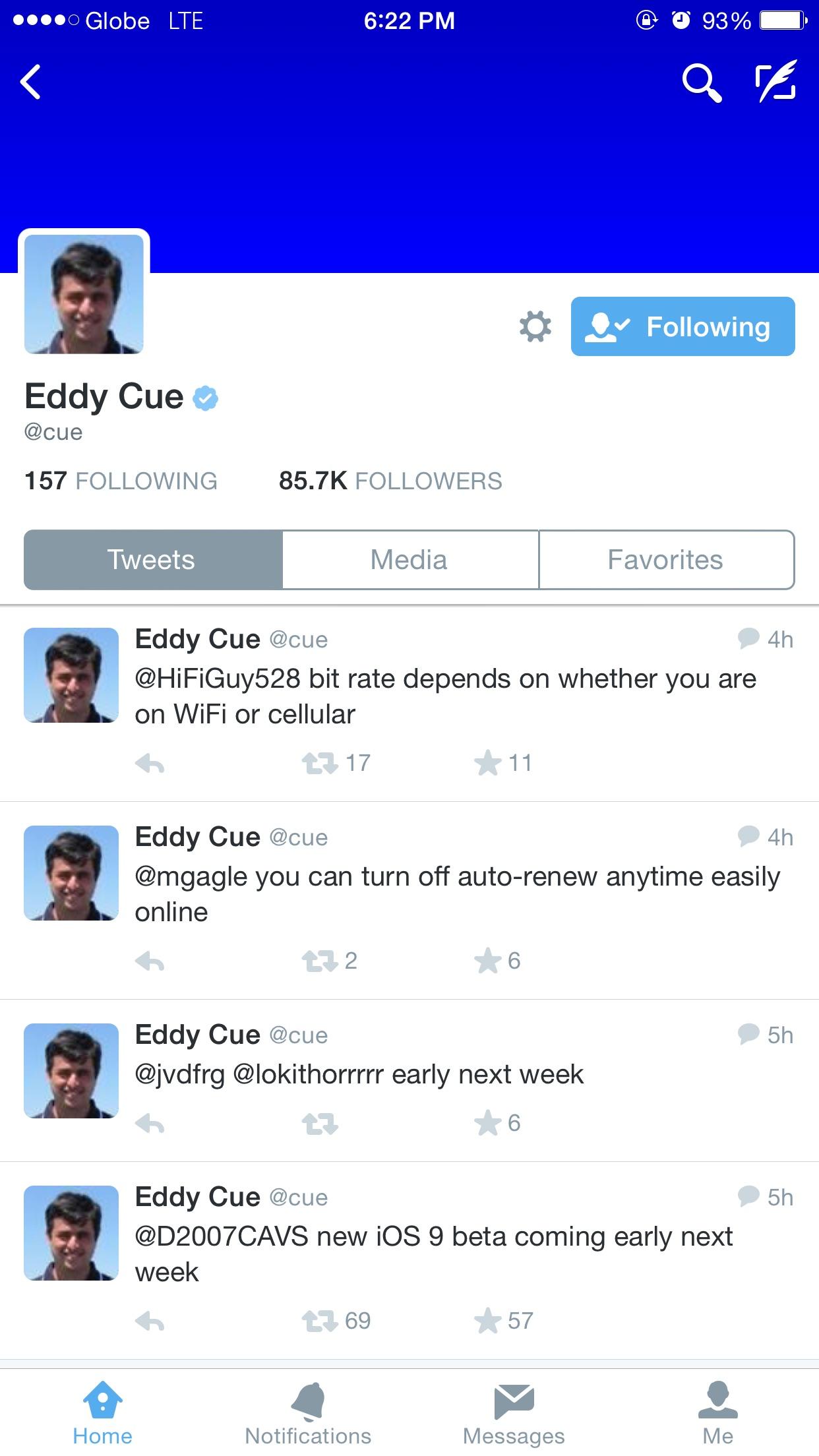 Eddy Cue on Twitter