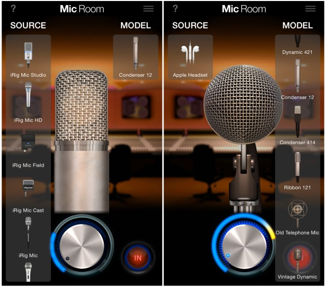 Mic Room - Main UI