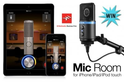 Add vocal richness at no cost with our Mic Room and iRig Mic Studio giveaway