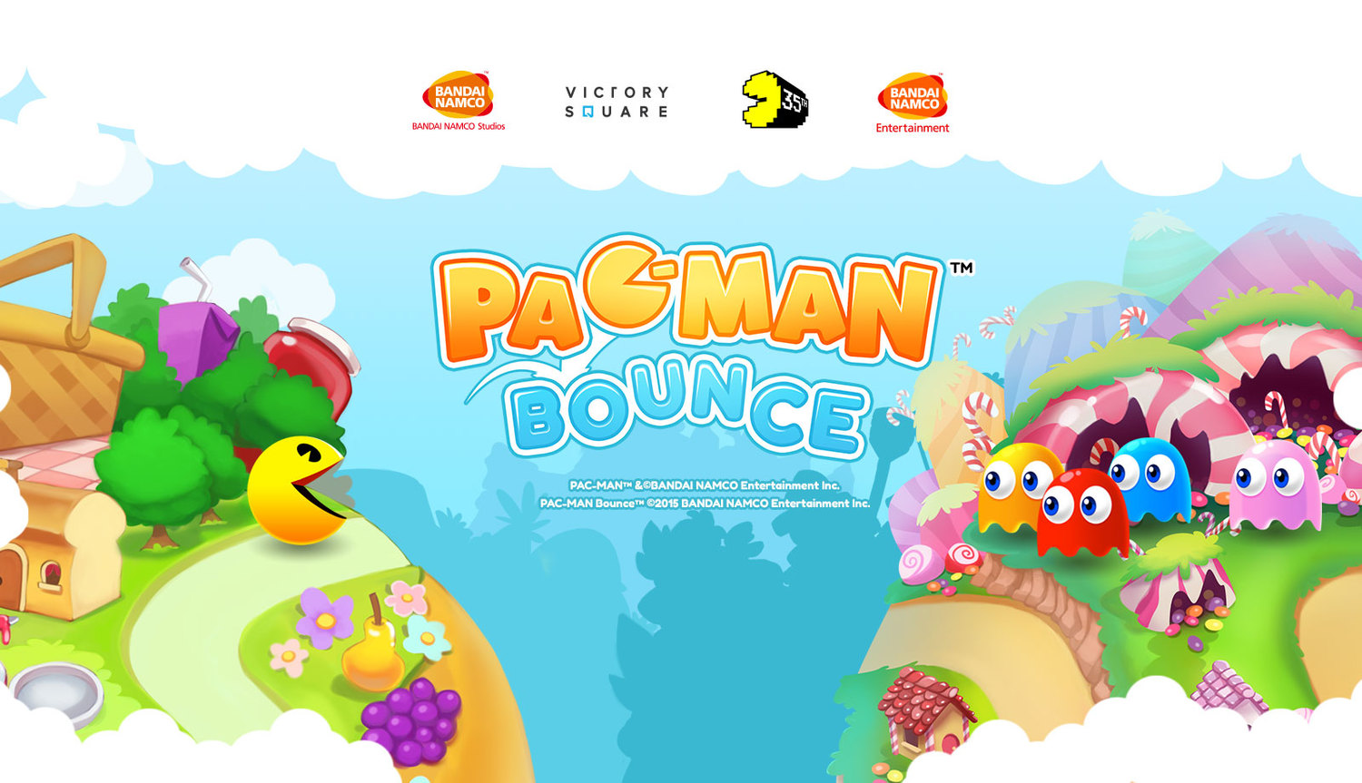 Chomp your way through Snack Land in Pac-Man Bounce