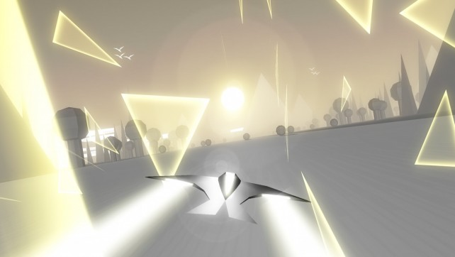 Fly against the clock in Race The Sun, an infinite runner