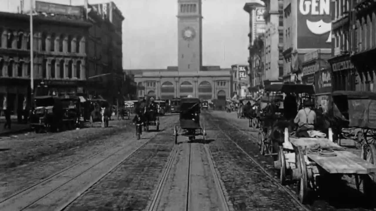 Test your visual memory with a 1906 Trip Down Market Street