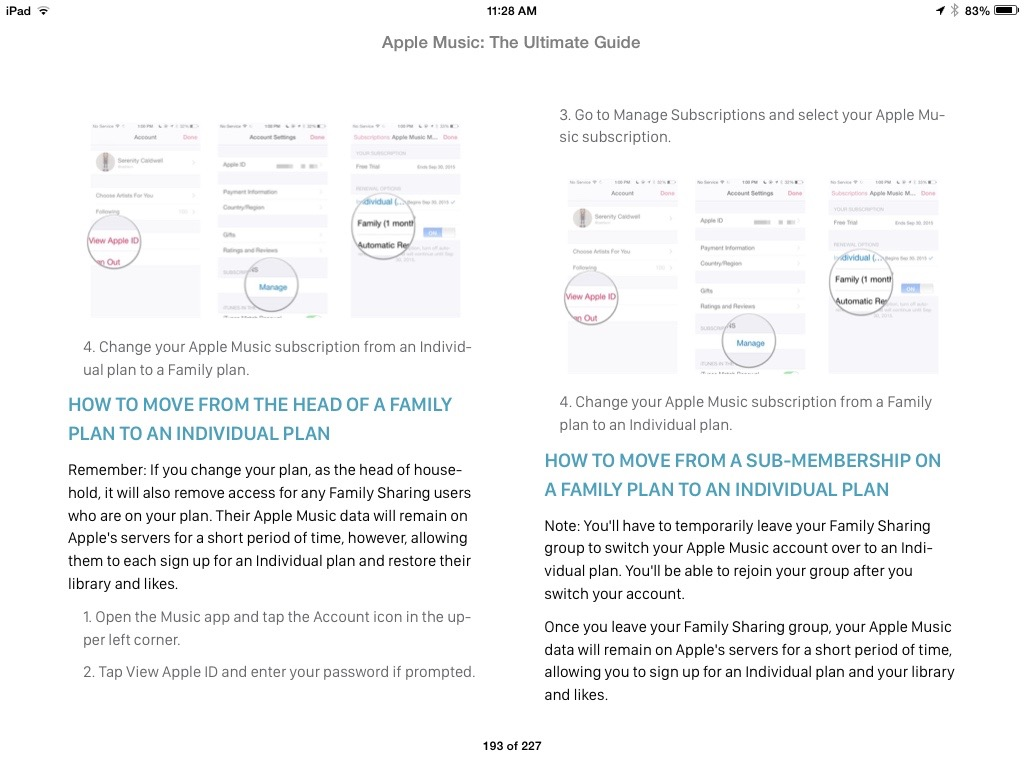 Making changes to your Family Plan in Apple Music is just one of the troubleshooting topics within the e-book.