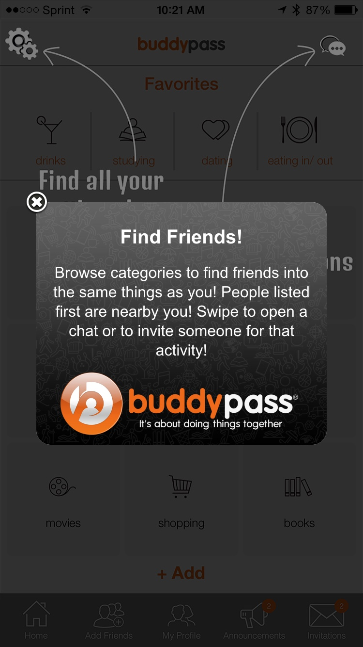 Buddypass Friends