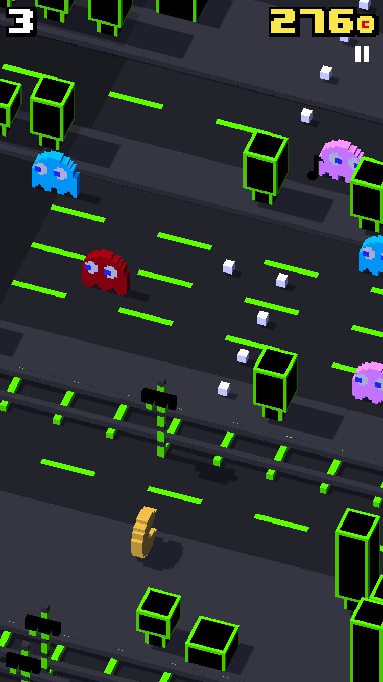 Pacman Table Game >> Get your Pac-Man fun on in latest Crossy Road update