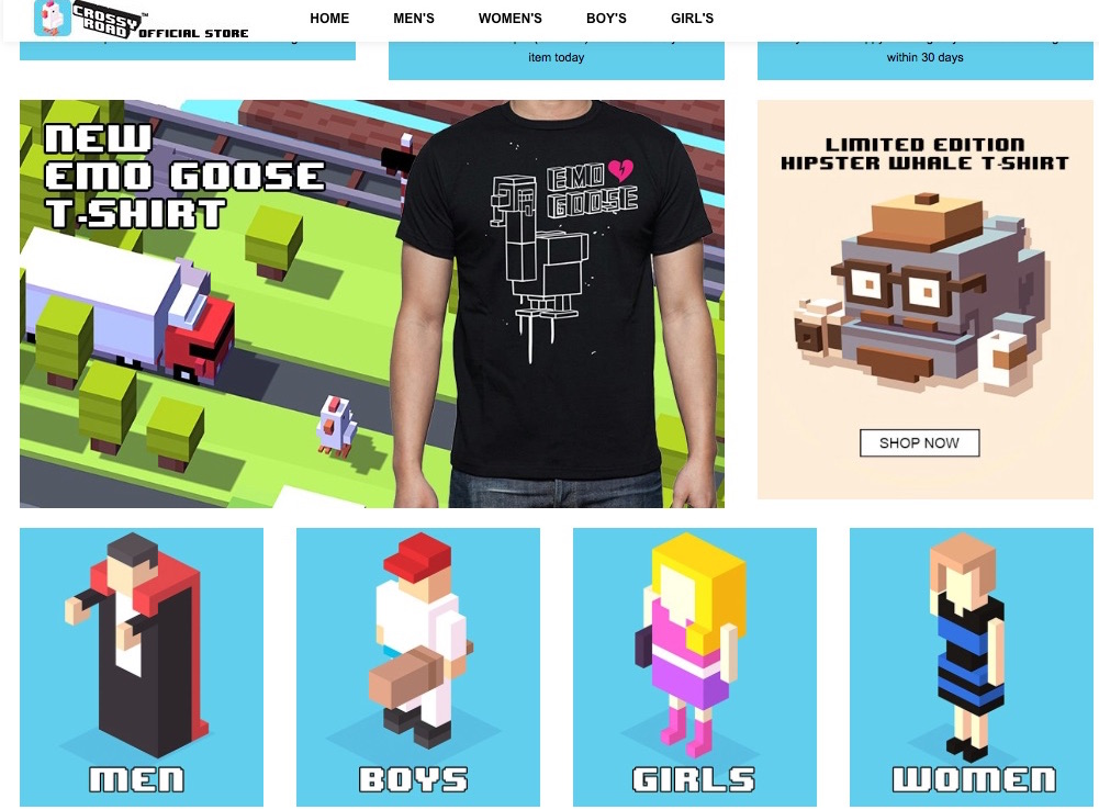 Crossy_Road_Store___100__Official_Merchandise_and_Slack_and_images