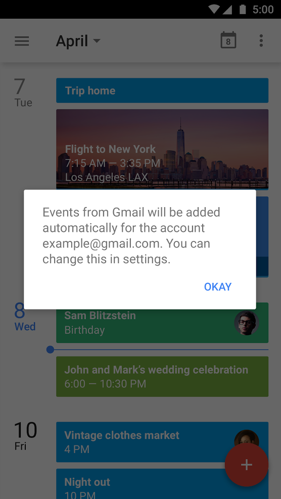 Gmail Calendar Integration