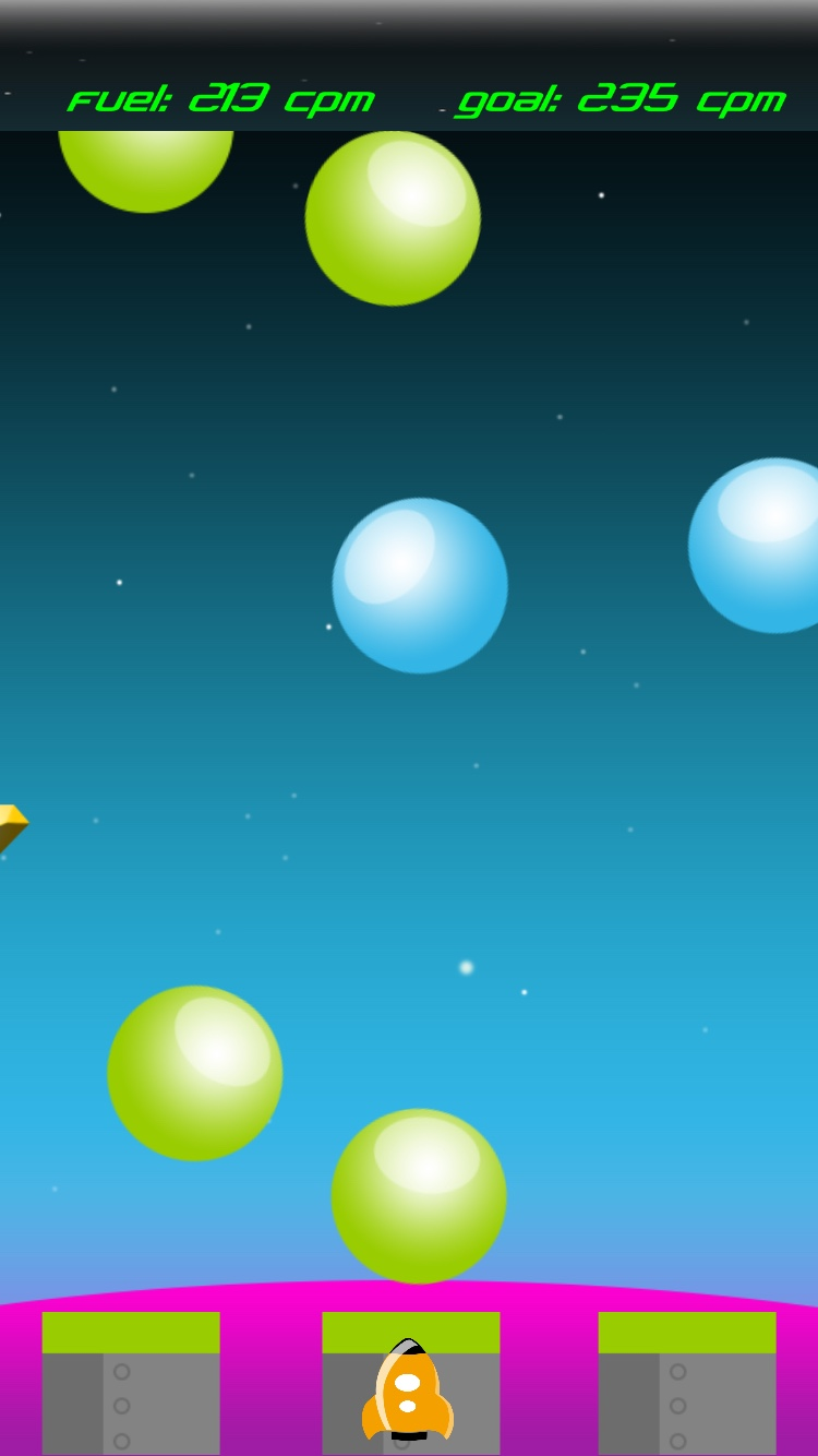 Score fuel to travel the galaxy in Moonball: Epic Adventure