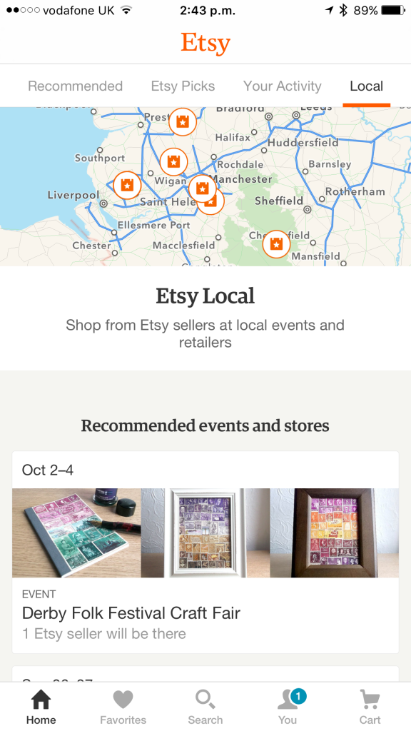 Etsy Local on iOS.