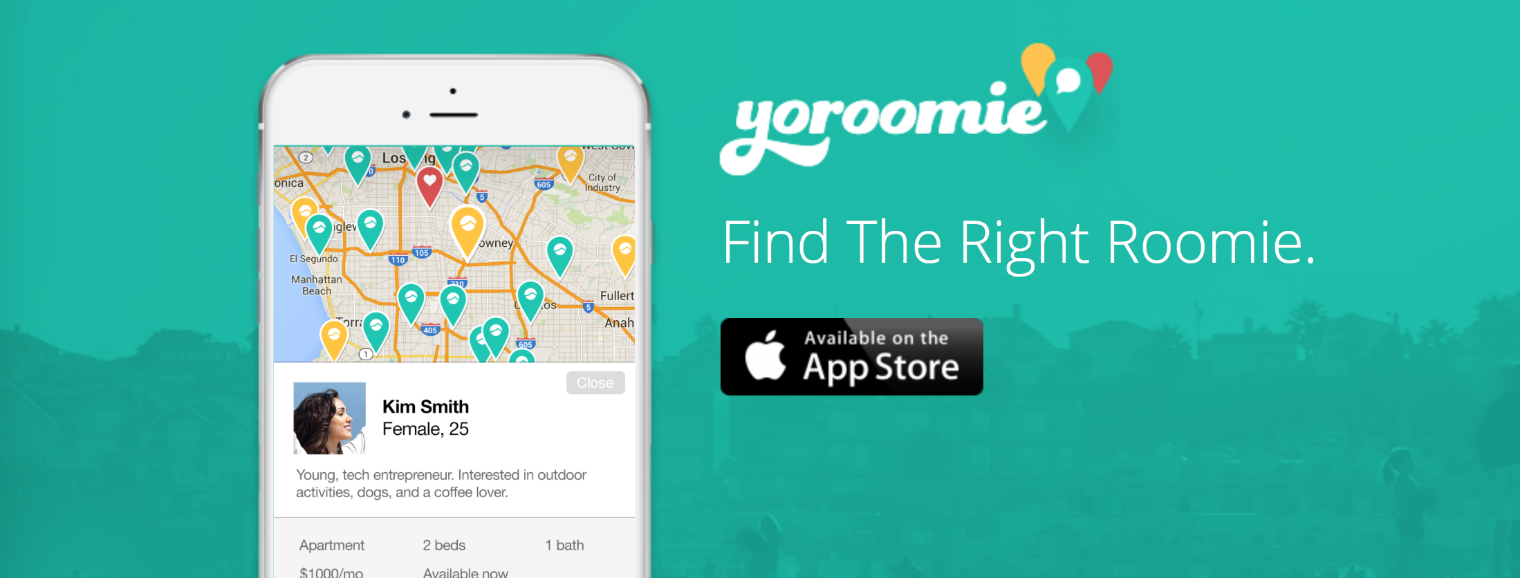 Find the right roomie for you with Yoroomie for iOS