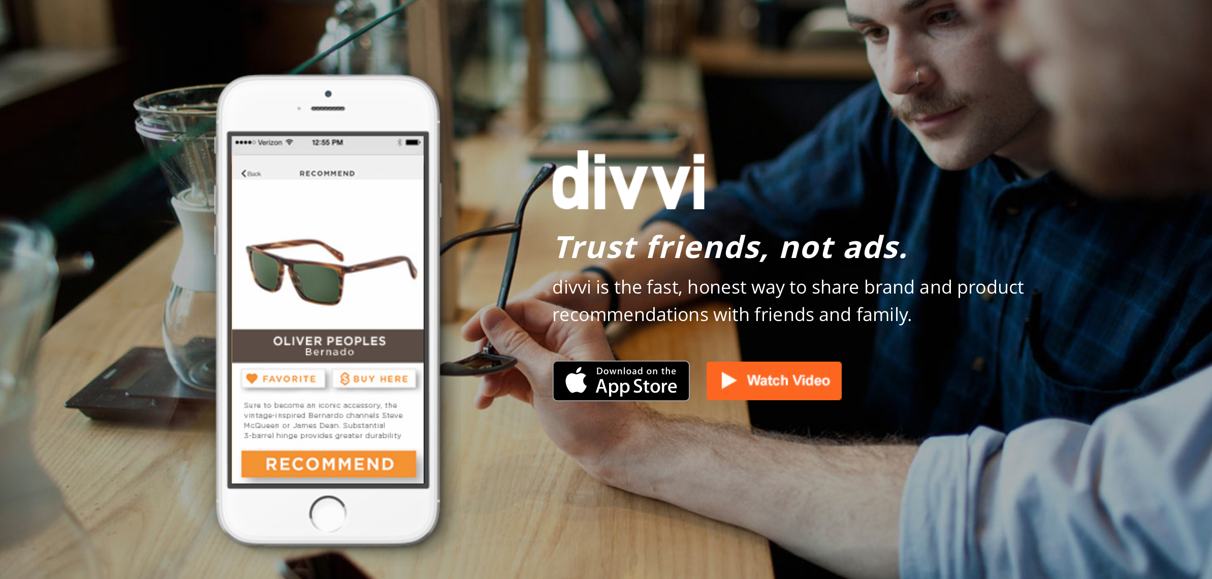 Divvi: because friends are more reliable than ads