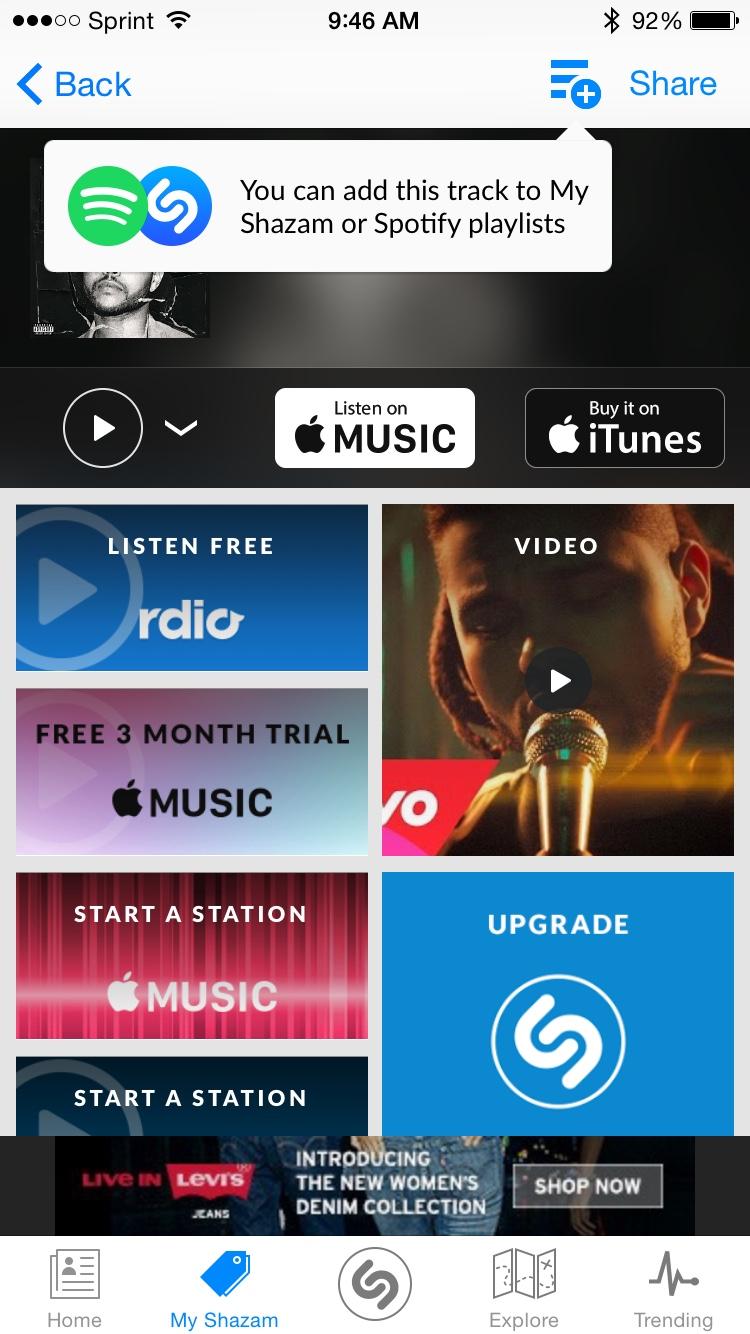 Shazam Spotify