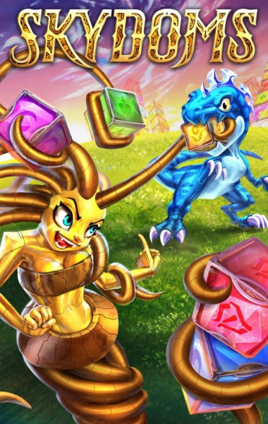 Harness your powerful team while you match-three in Skydoms