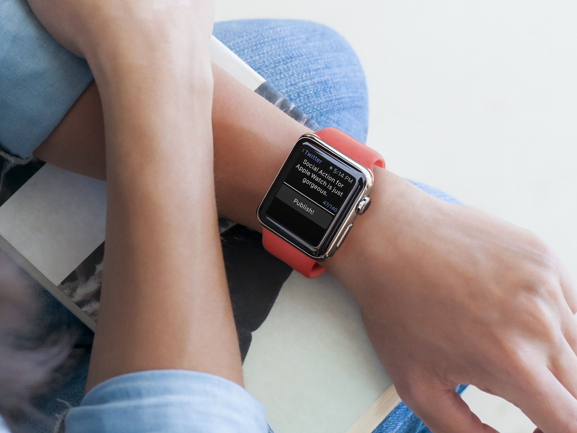 Social Action lets you post quickly from your wrist