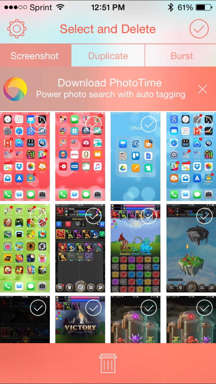 Sweep Screenshots