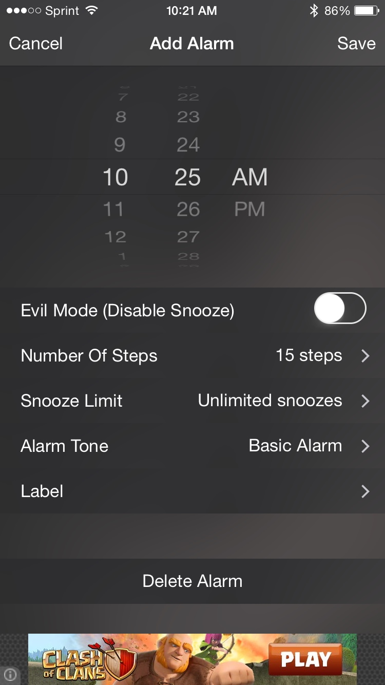 Walk Me Up Alarm