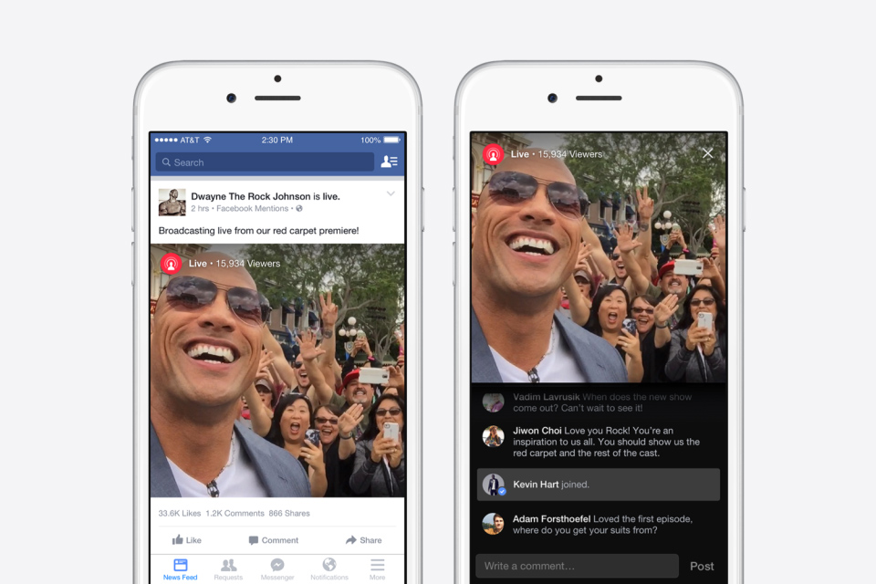 You have to be famous to use Facebook's live video streaming feature