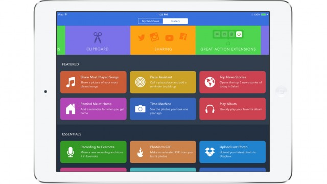 Easily accomplish tasks with Workflow's new Notification Center widget