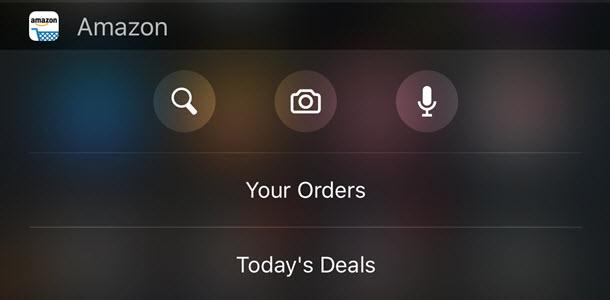Amazon app widget