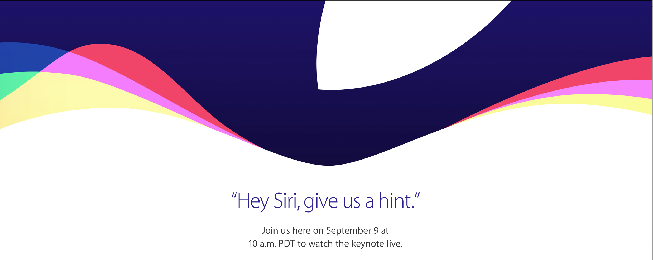 Apple Events - Special Event September 2015 - Apple
