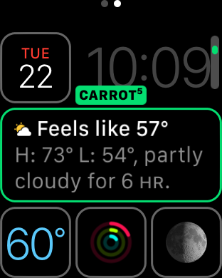 Carrot Weather Complication